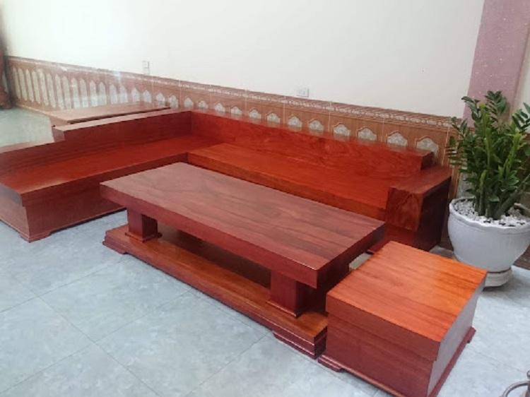 bàn ghé gỗ hương đỏ