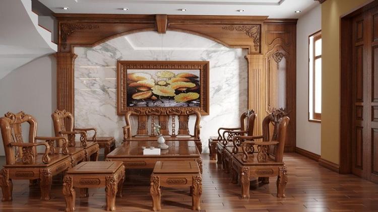 bàn ghế gỗ mật