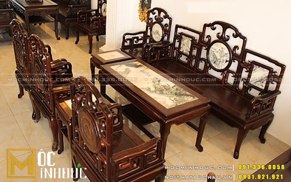 Bộ bàn ghế gỗ gụ