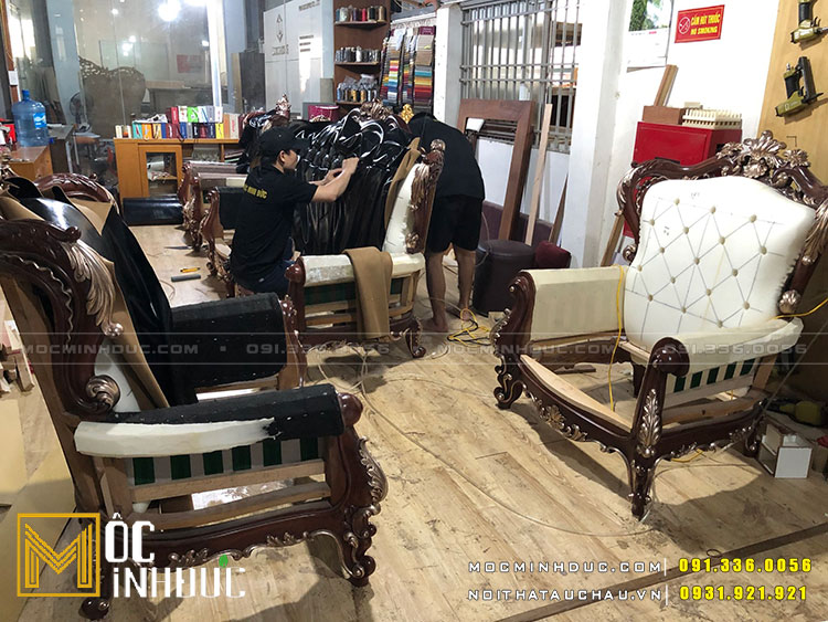 Sản xuất bàn ghế nội thất tại xưởng