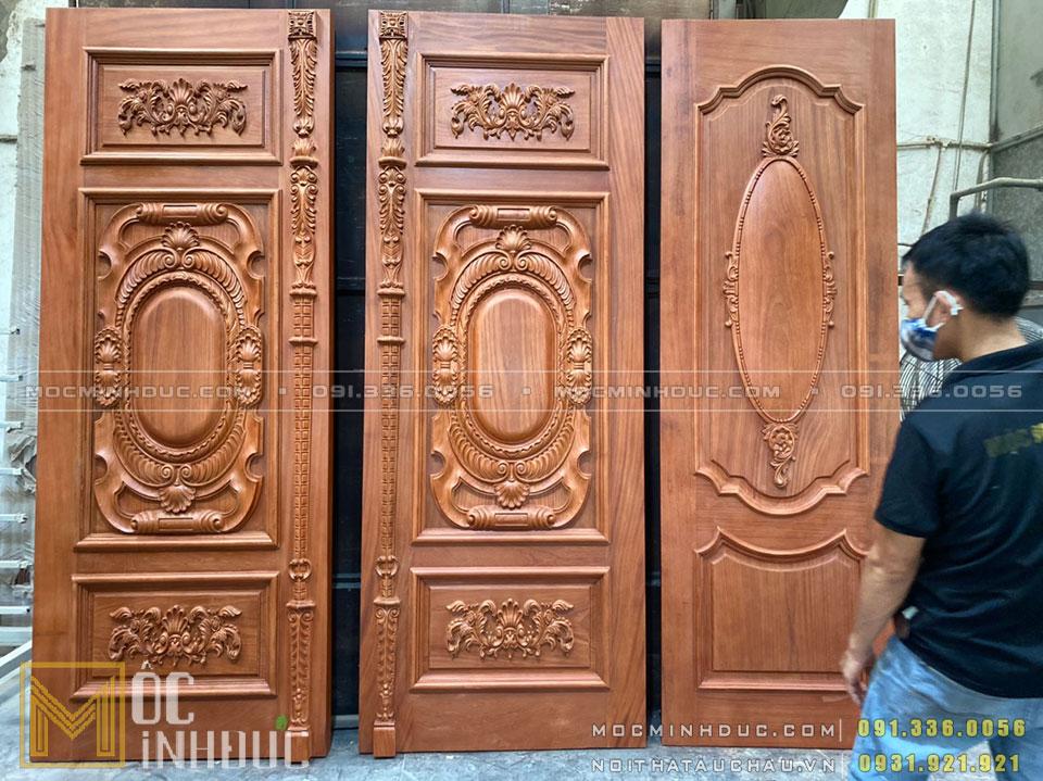 Sản xuất cửa gỗ tự nhiên cao cấp